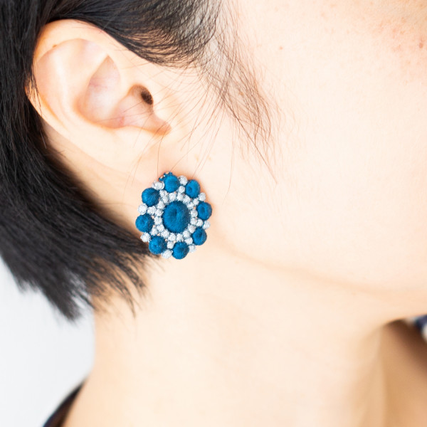 Pebble Hanabi earrings