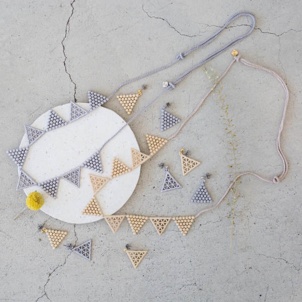 LACE triangle necklace
